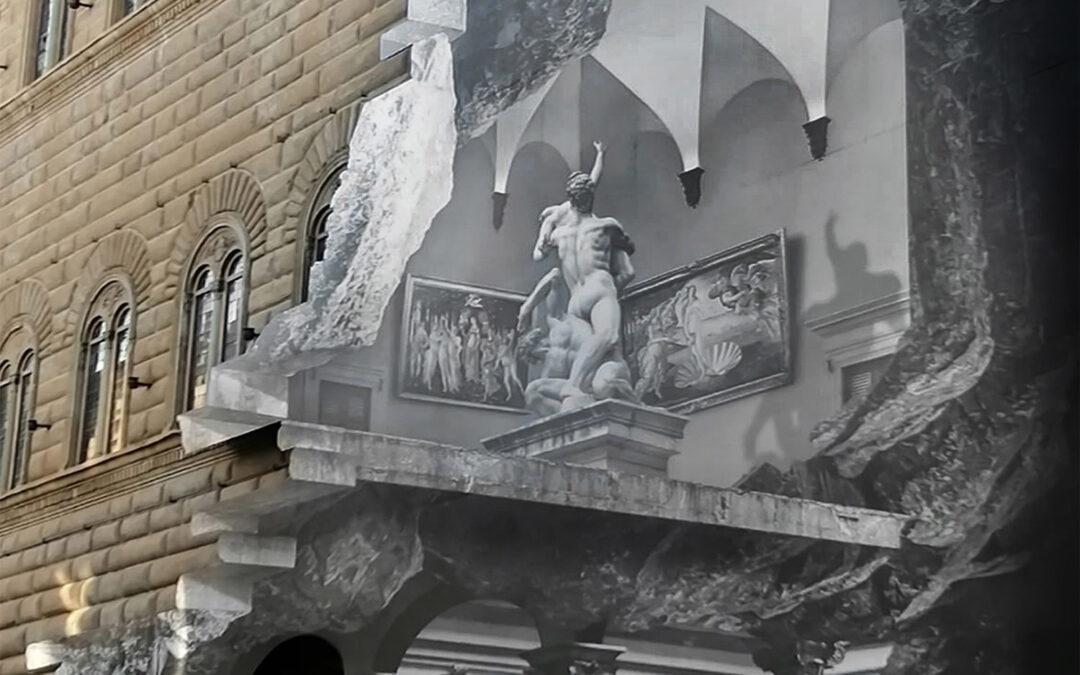 """Una """"Ferita"""" a Palazzo Strozzi: JR e l'opera che dialoga con le speranze del mondo"""